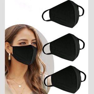 Made In USA Black Face Mask Cotton Reusable (1)